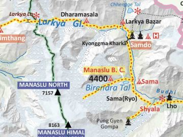 Manaslu-Tsum-Valley-Trek-Map | Three Diamond Adventure