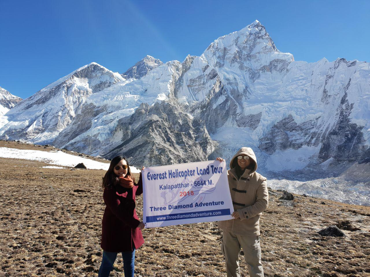 Helicopter tour Everest Kalapathar