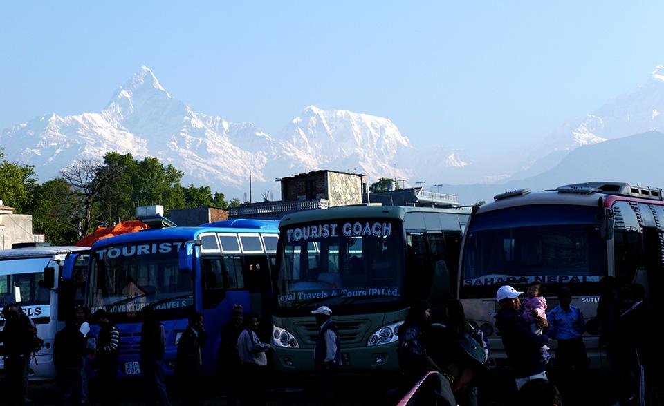 Kathmandu to Pokhara Tourist Bus - pokhara bus park